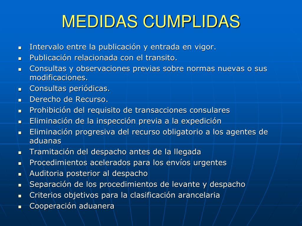 MEDIDAS CUMPLIDAS