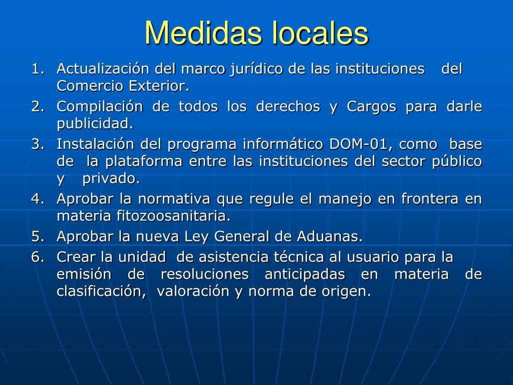 Medidas locales