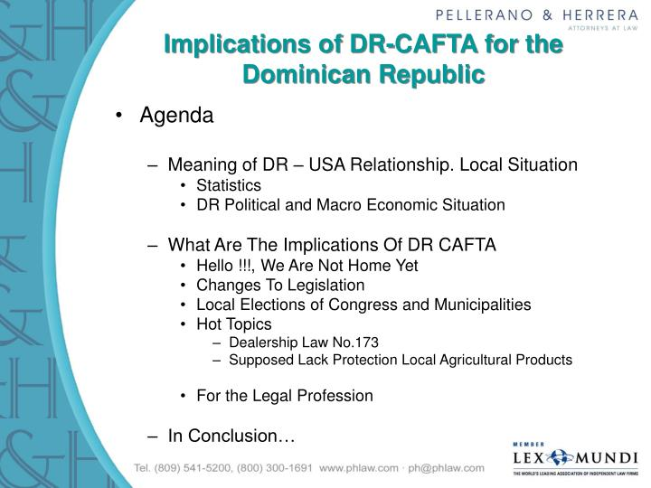 Implications of dr cafta for the dominican republic2