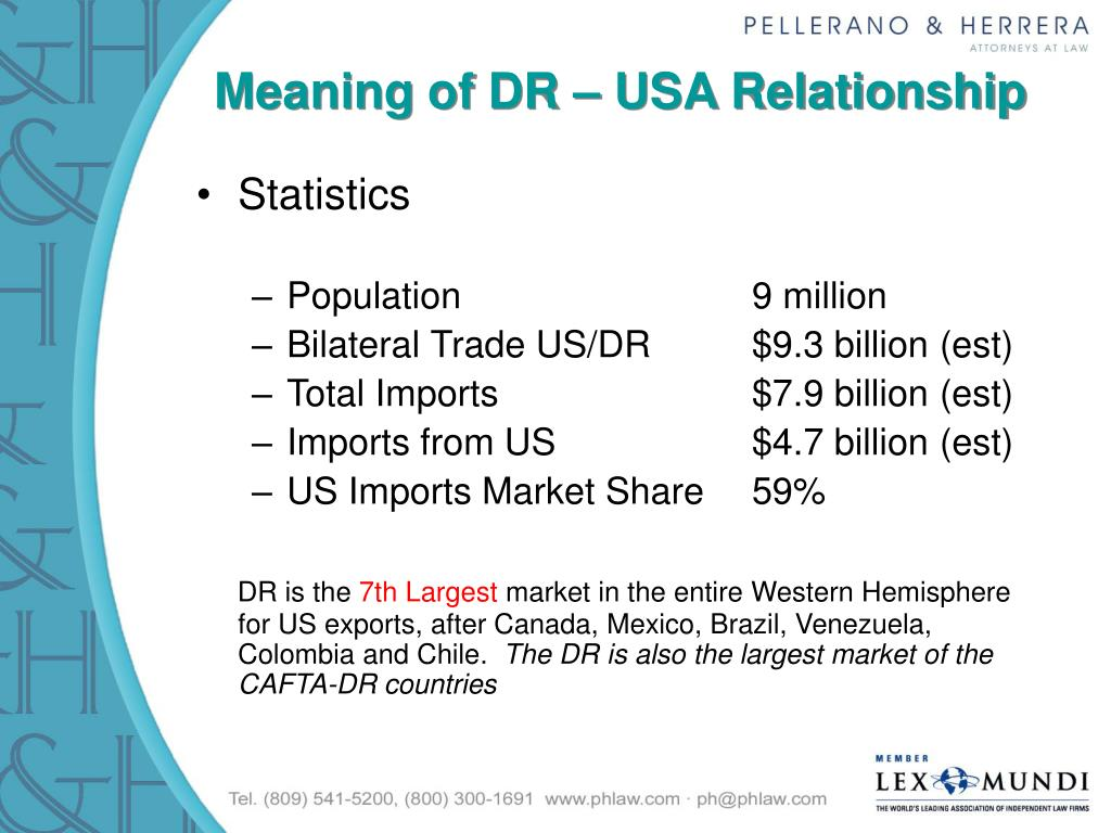 Meaning of DR – USA Relationship