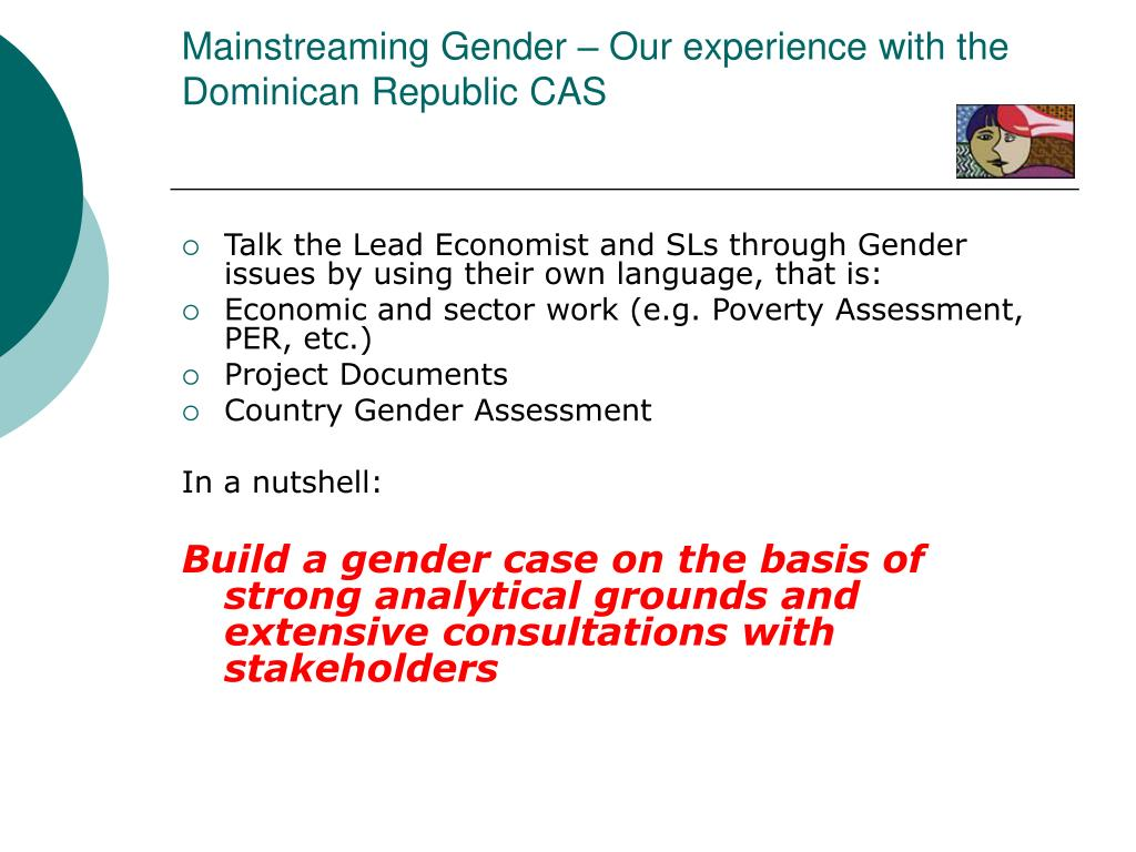 Mainstreaming Gender – Our experience with the Dominican Republic CAS