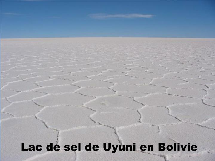 Lac de sel de Uyuni en Bolivie