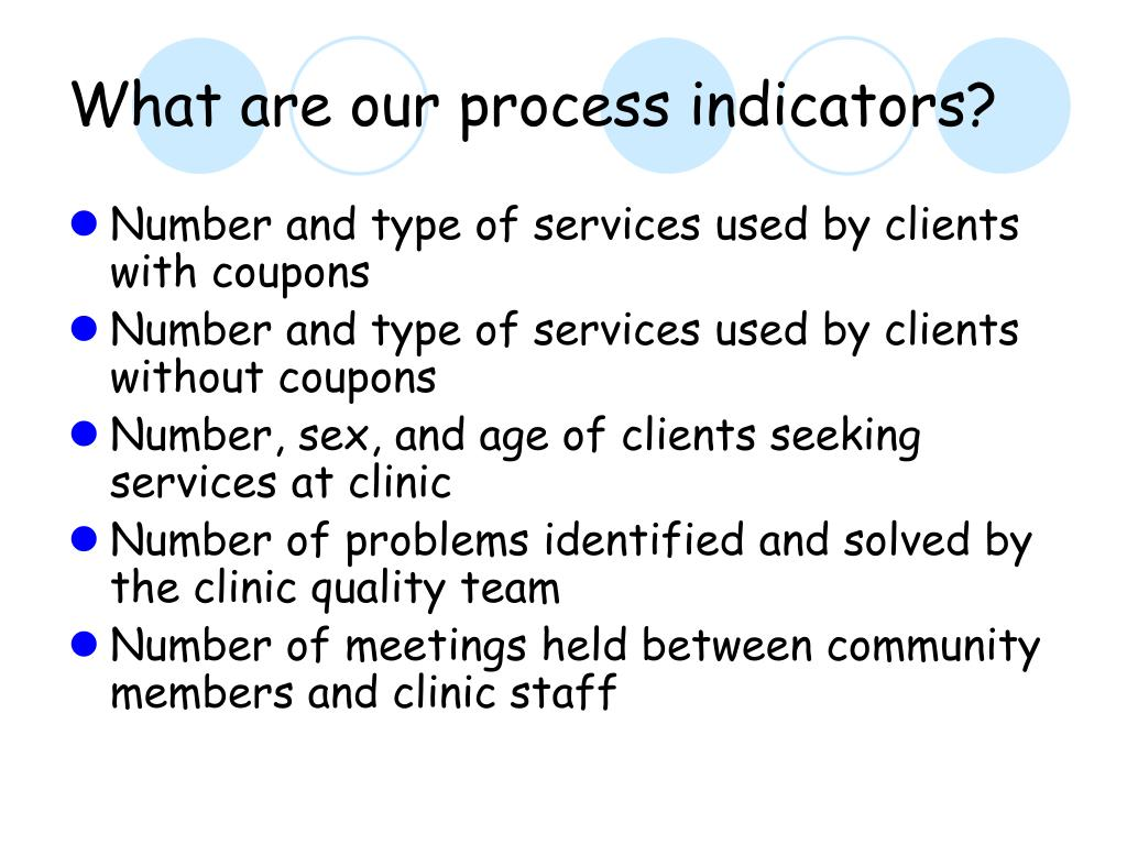 What are our process indicators?