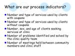 what are our process indicators