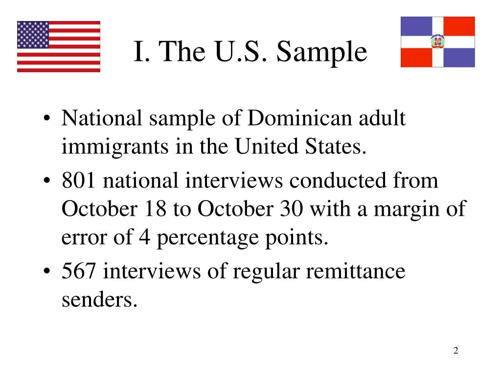 I. The U.S. Sample