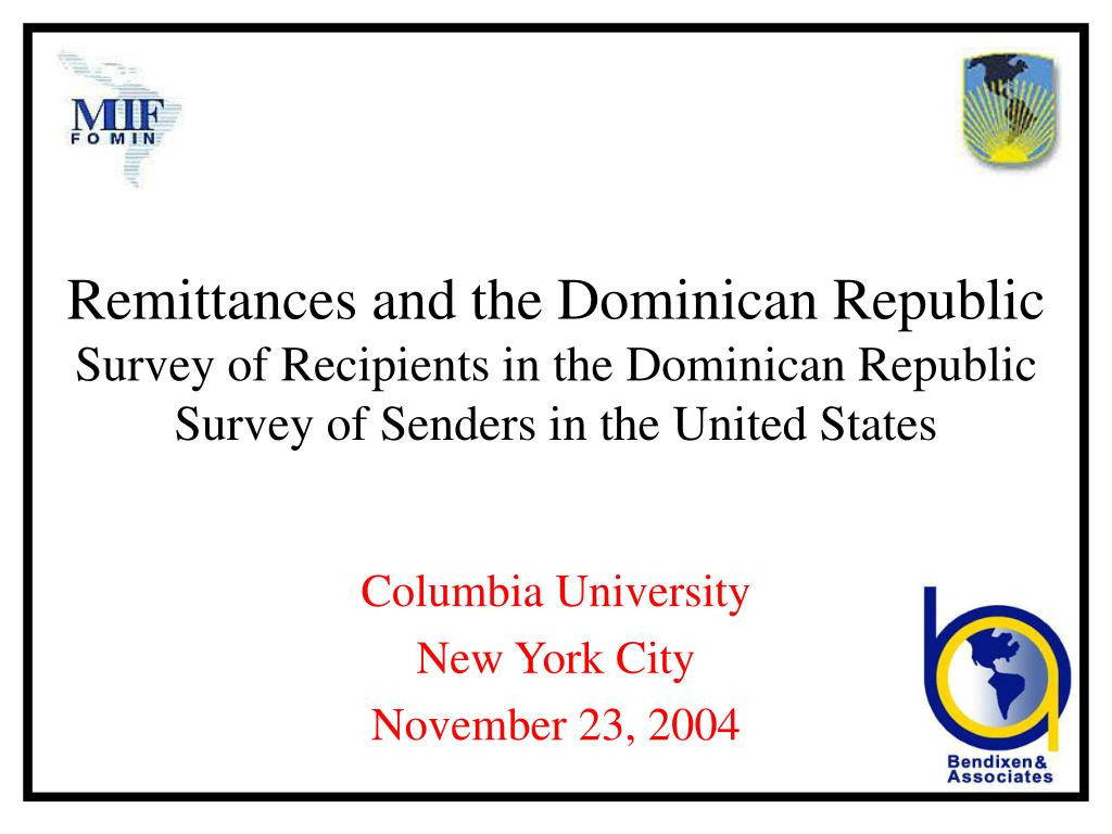 Remittances and the Dominican Republic