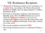 vii remittance recipients