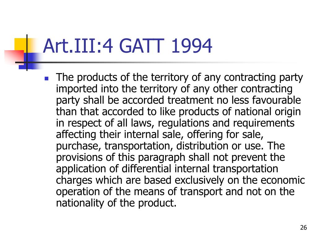 Art.III:4 GATT 1994
