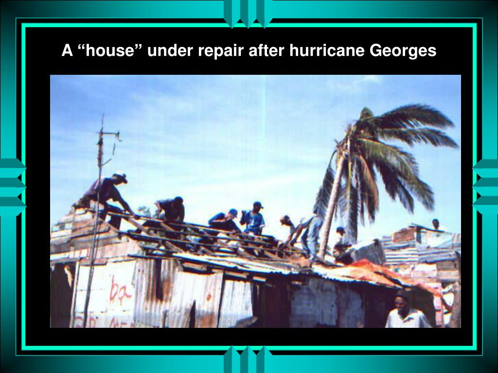 "A ""house"" under repair after hurricane Georges"