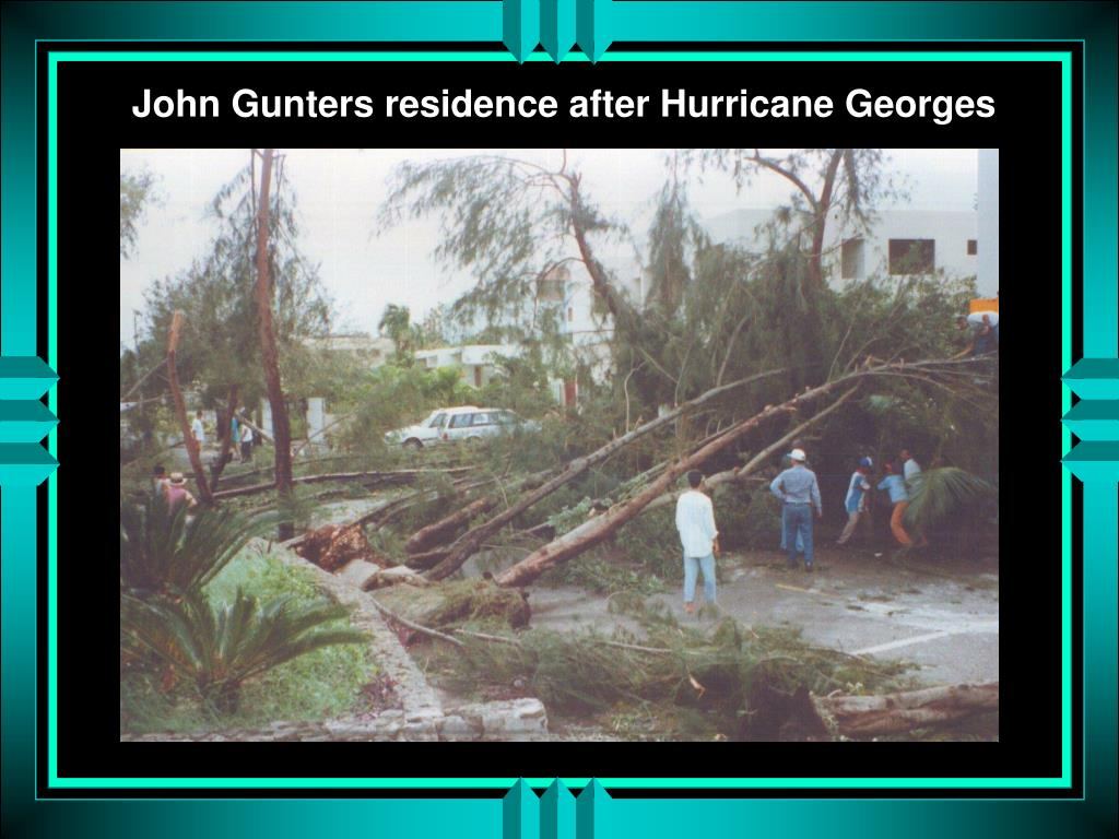 John Gunters residence after Hurricane Georges