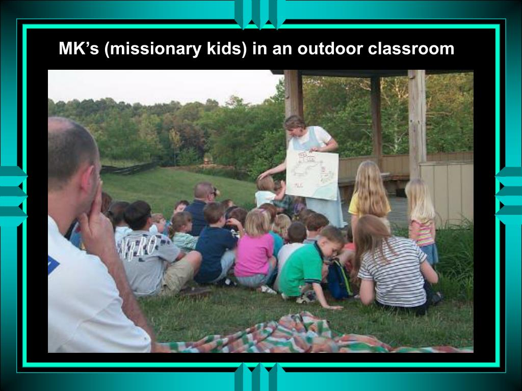 MK's (missionary kids) in an outdoor classroom