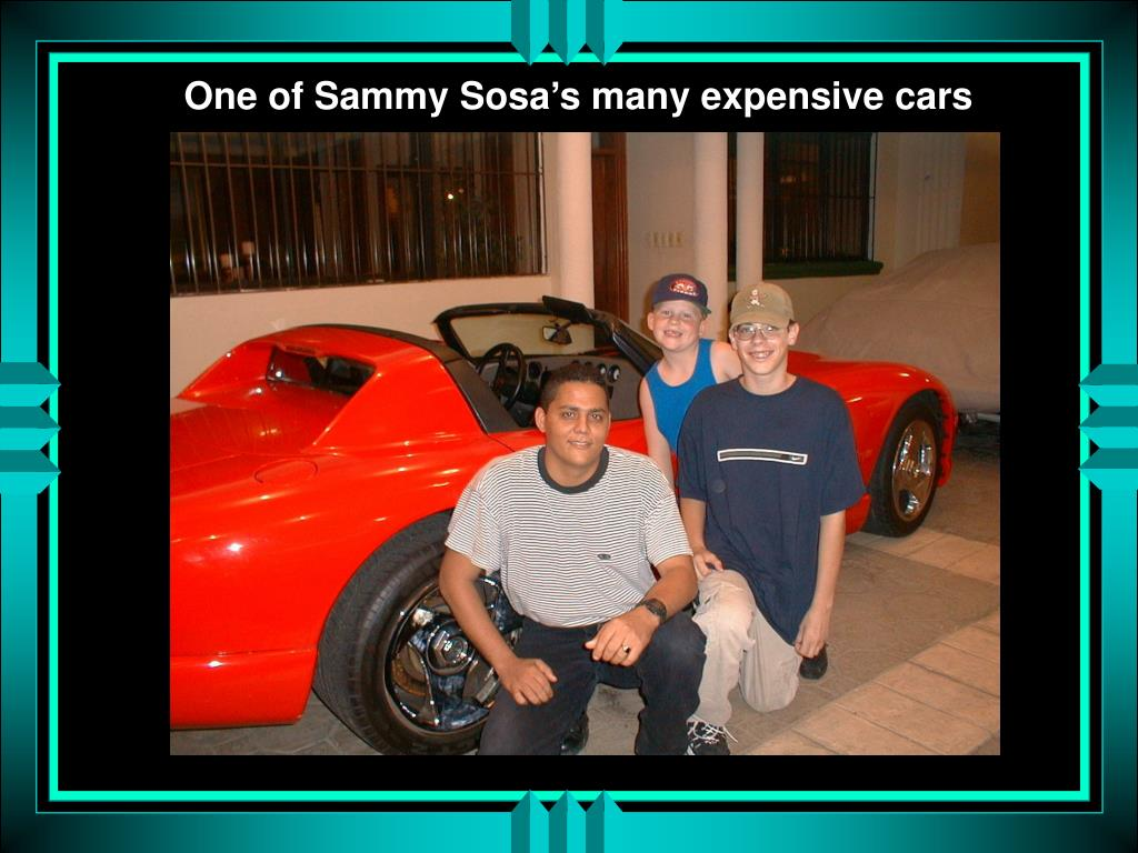 One of Sammy Sosa's many expensive cars