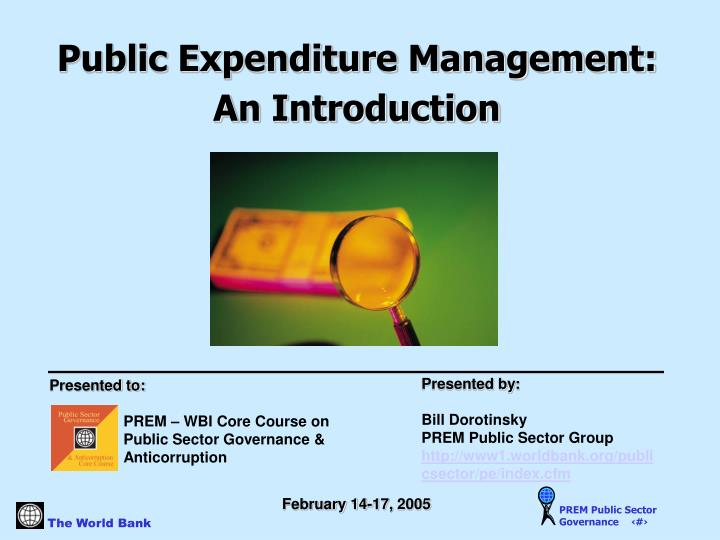 Public Expenditure Management: