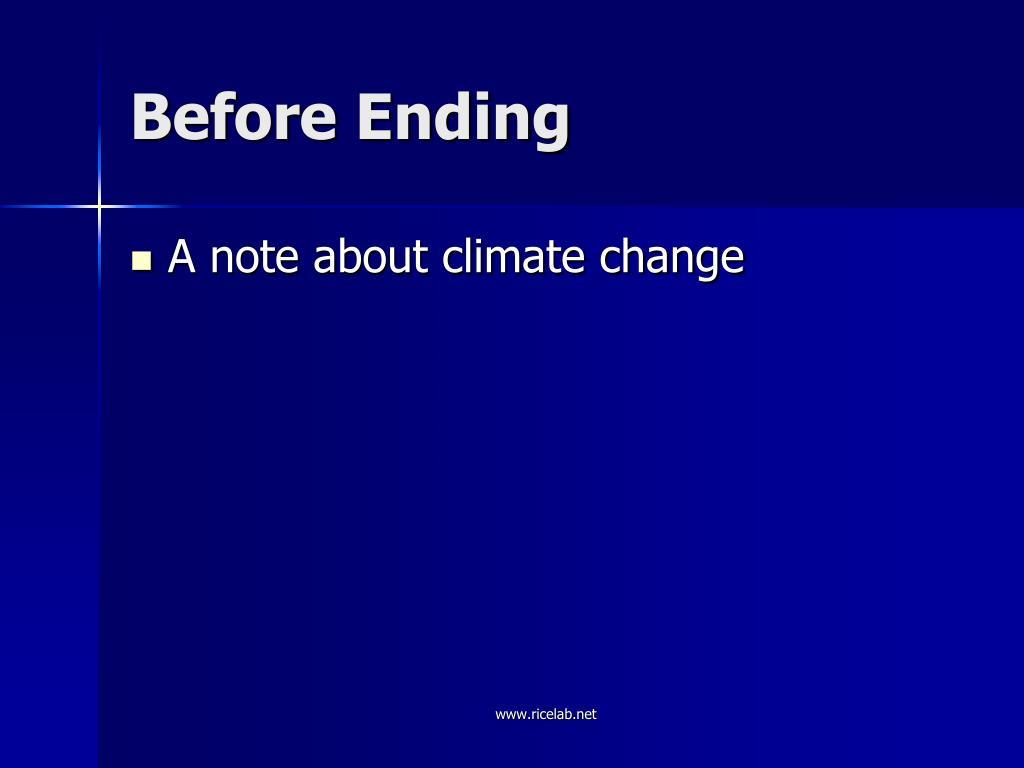 Before Ending