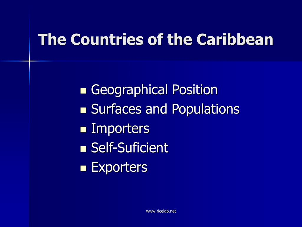 The Countries of the Caribbean