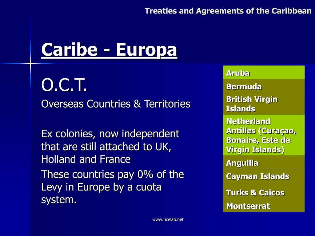 Treaties and Agreements of the Caribbean