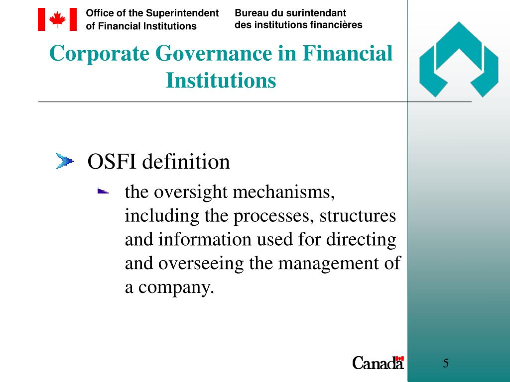Corporate Governance in Financial Institutions