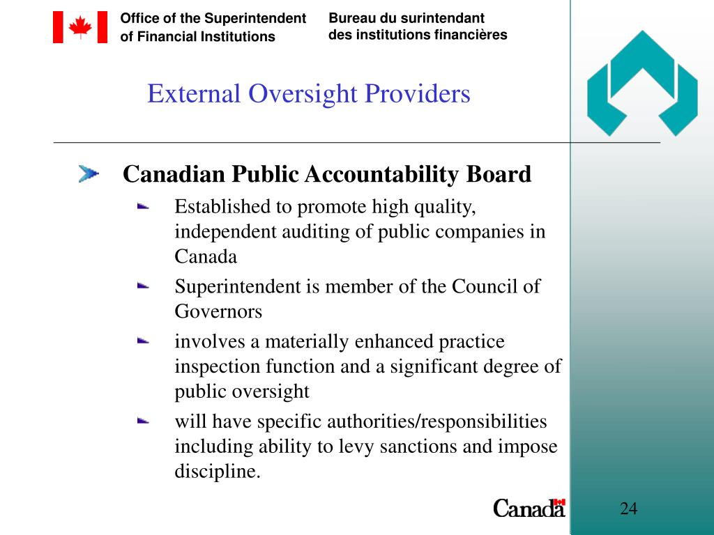 External Oversight Providers