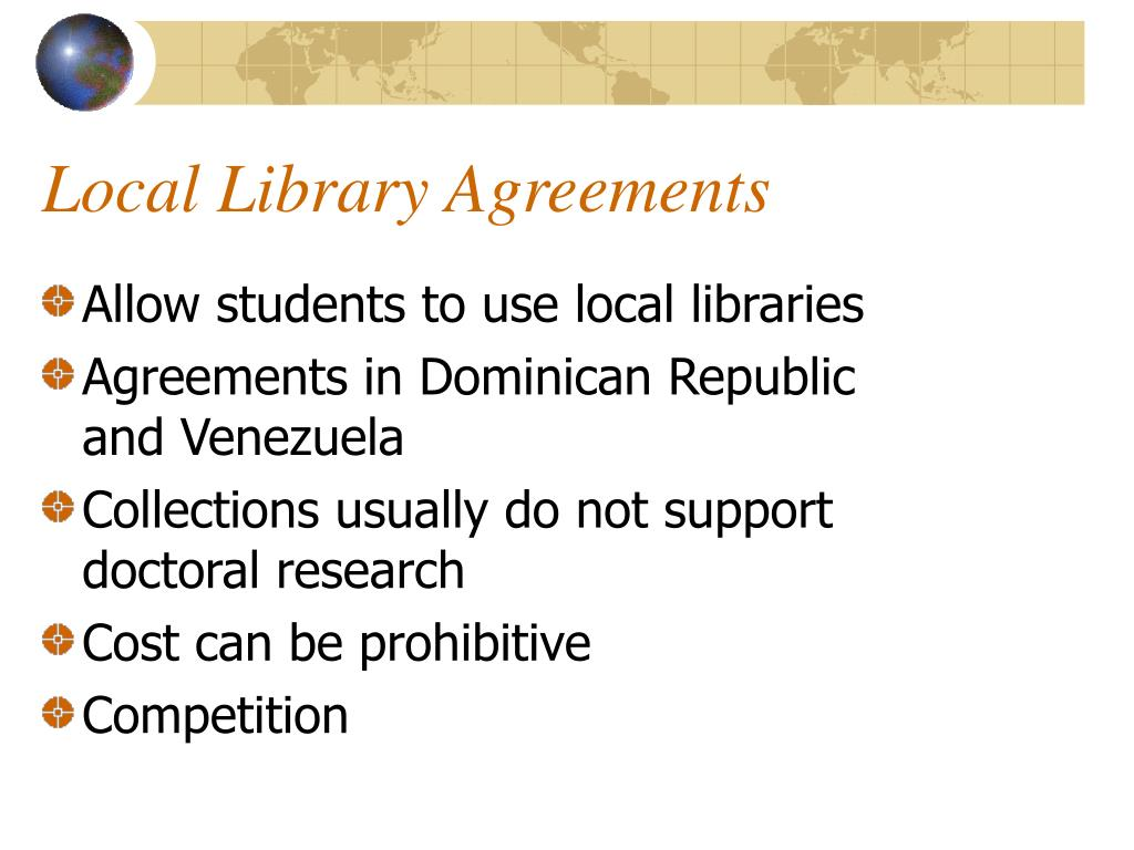 Local Library Agreements