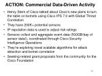action commercial data driven activity