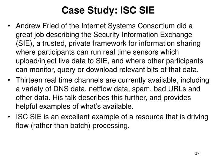 Case Study: ISC SIE