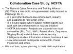 collaboration case study ncfta