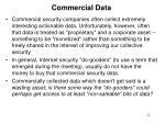 commercial data