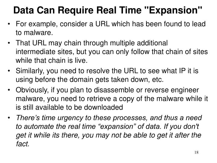 "Data Can Require Real Time ""Expansion"""