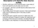 description of a specific data source surbl