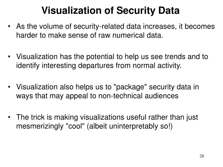 Visualization of Security Data