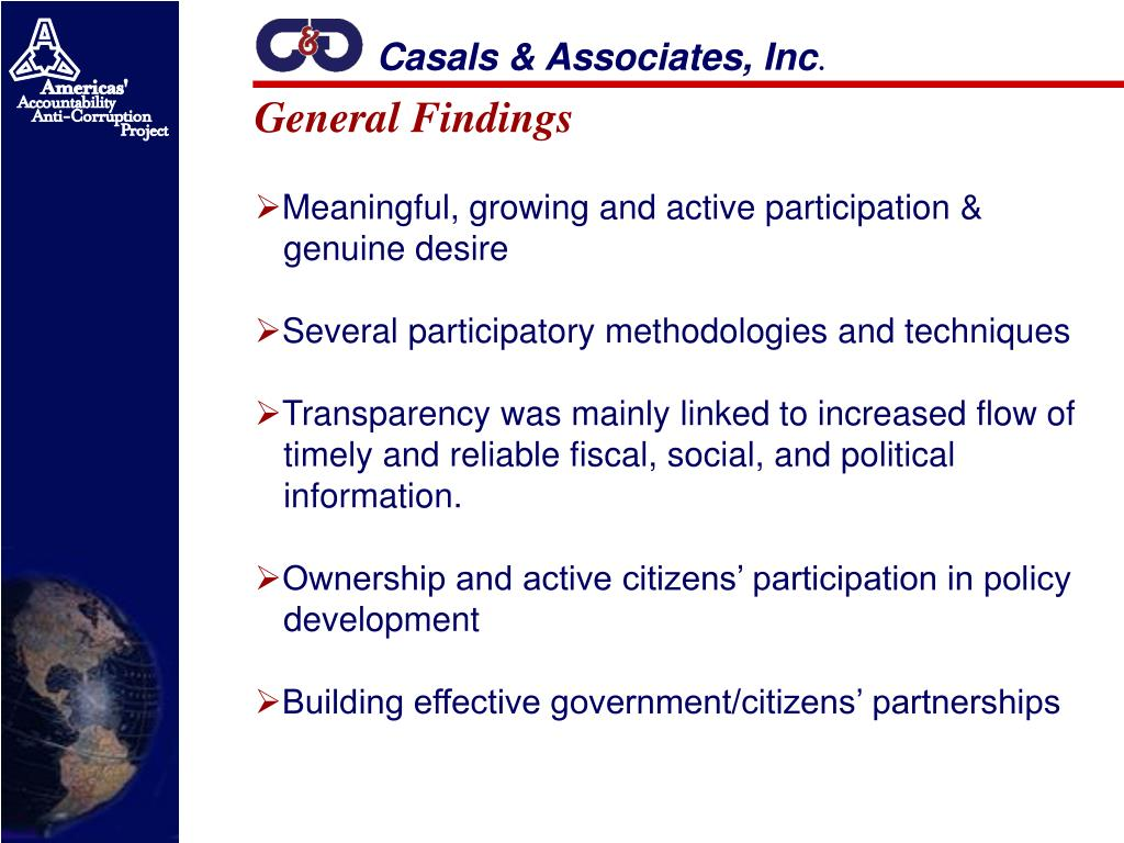 Casals & Associates, Inc