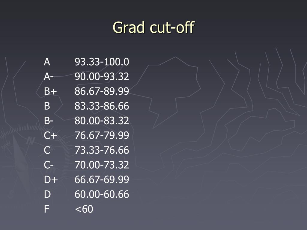 Grad cut-off
