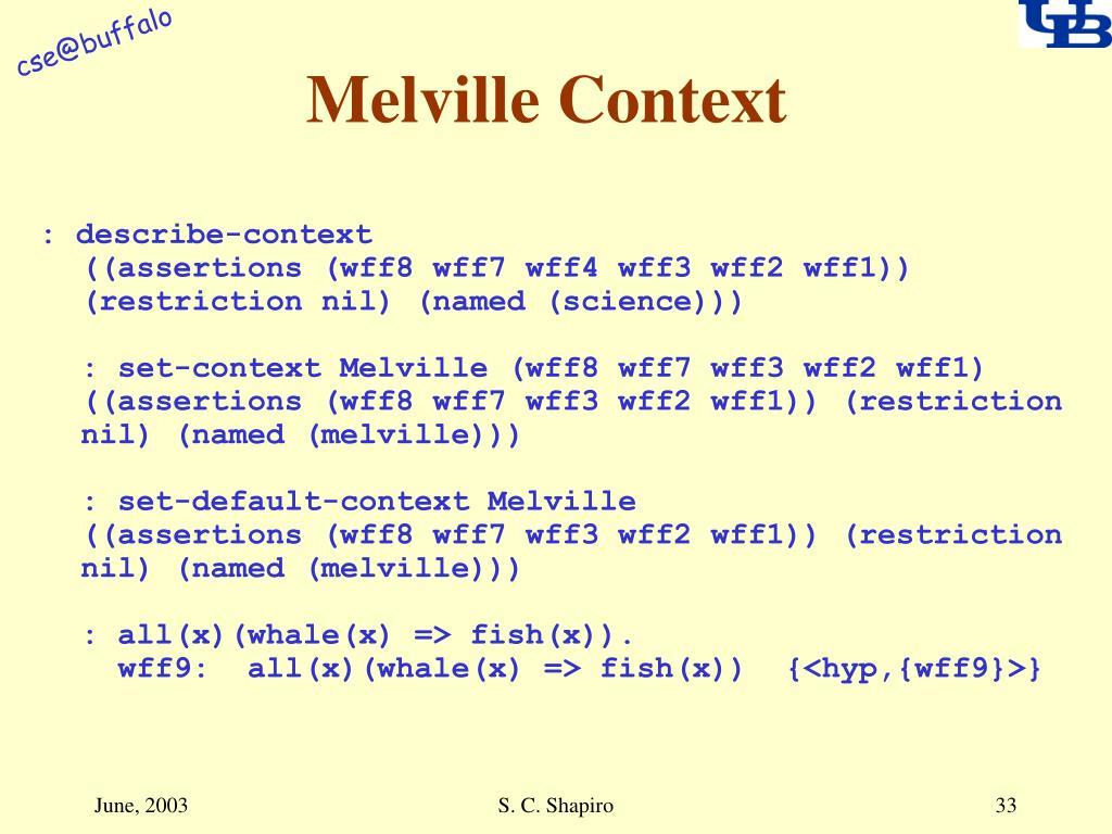 Melville Context
