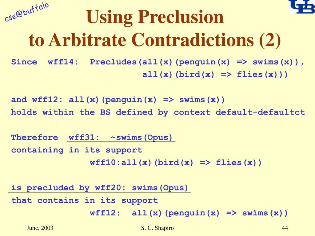Using Preclusion