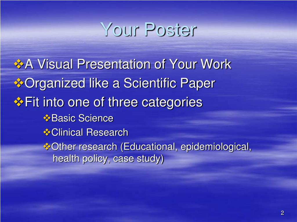 Your Poster