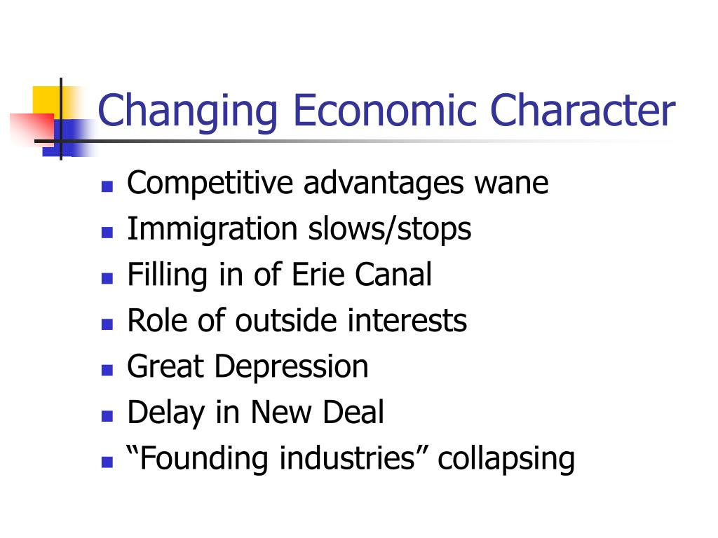 Changing Economic Character