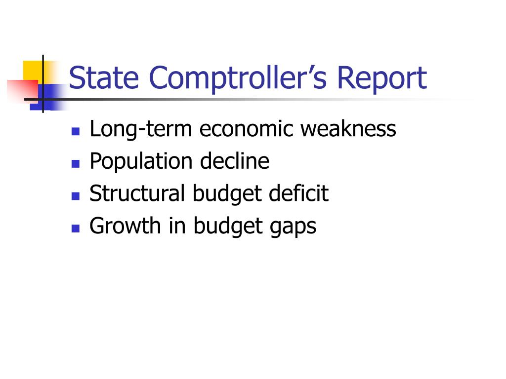 State Comptroller's Report