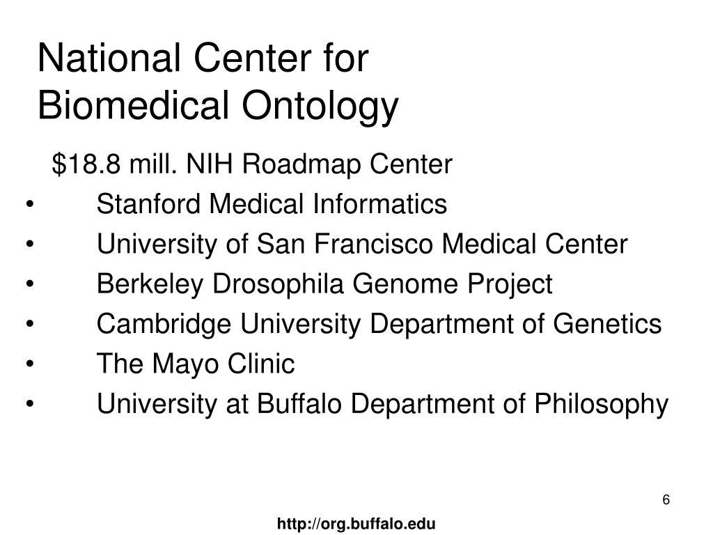 National Center for Biomedical Ontology