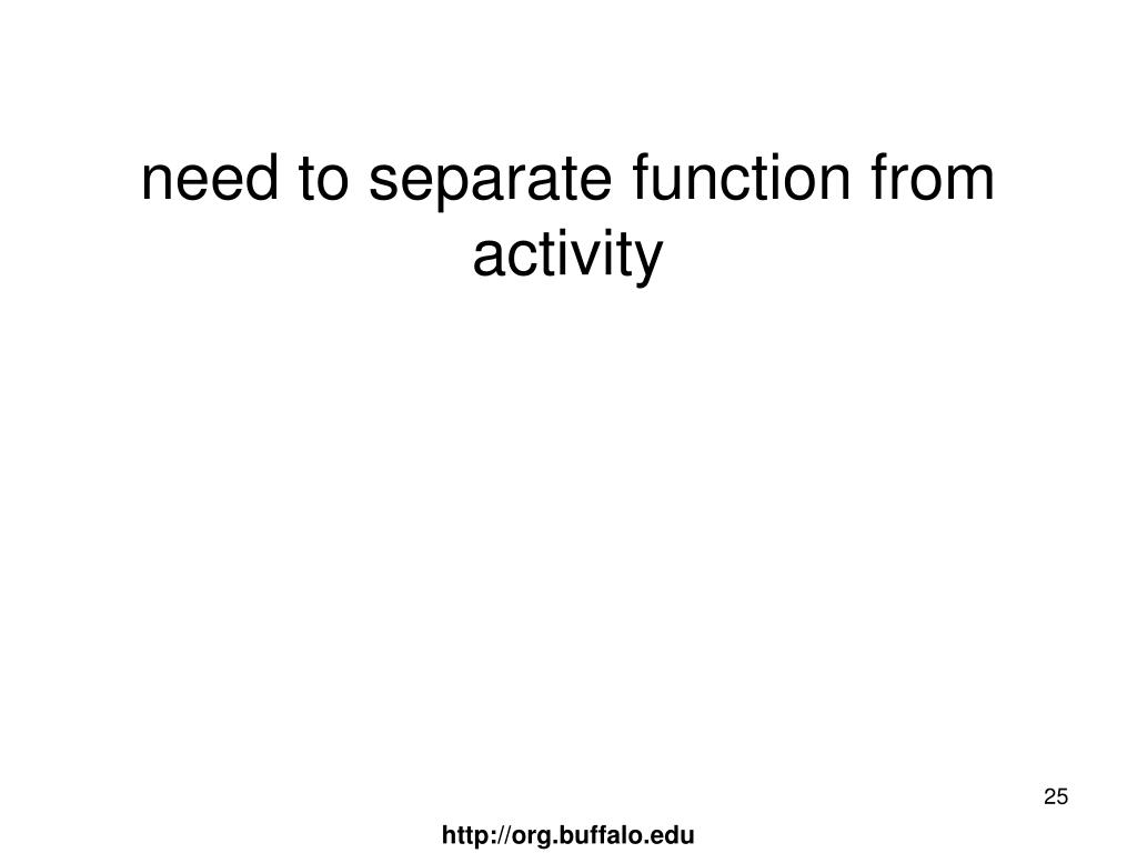 need to separate function from activity