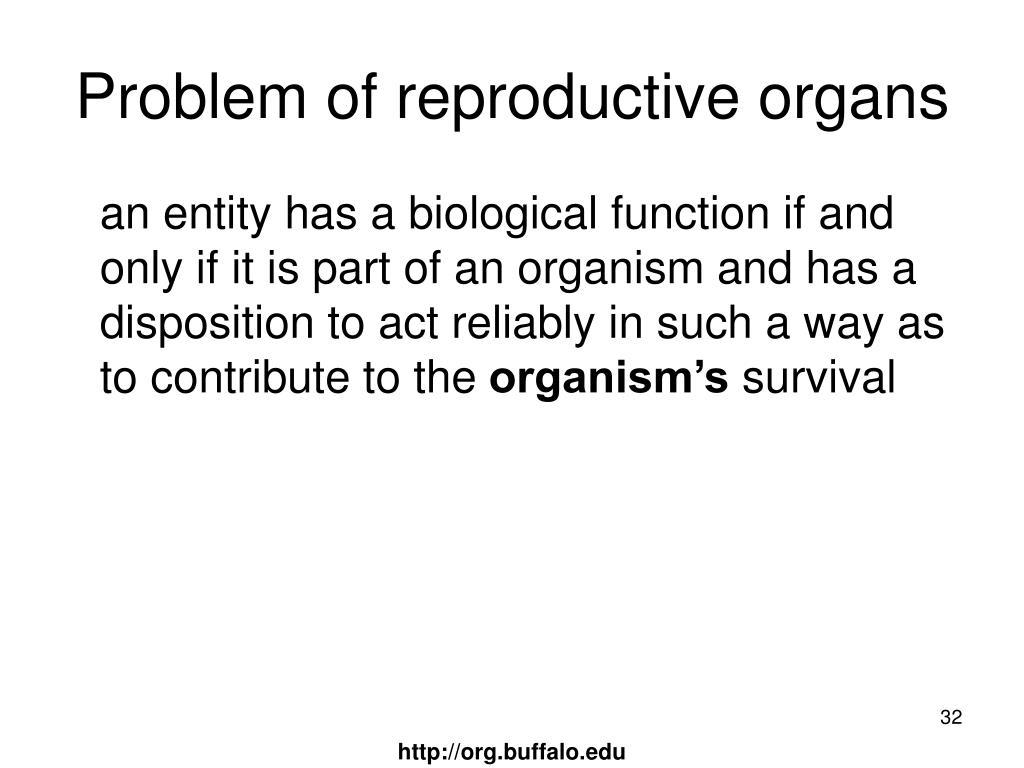 Problem of reproductive organs