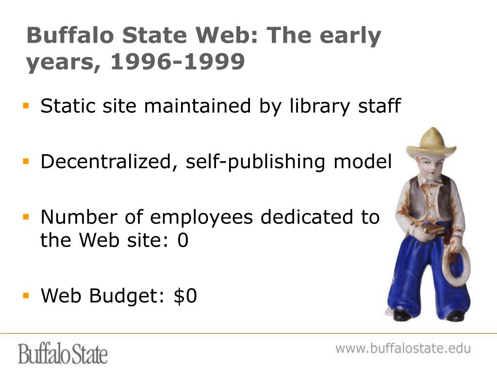 Buffalo State Web: The early years, 1996-1999