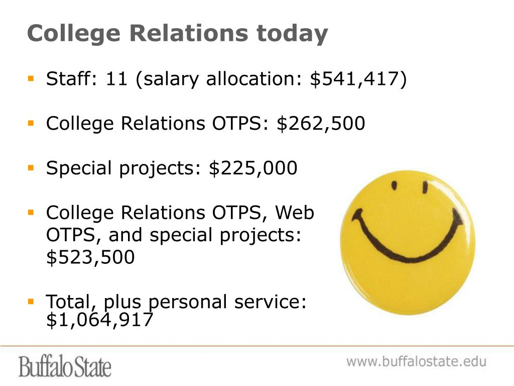 College Relations today