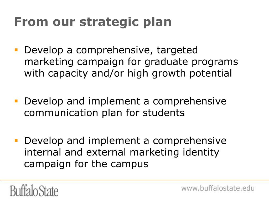 From our strategic plan