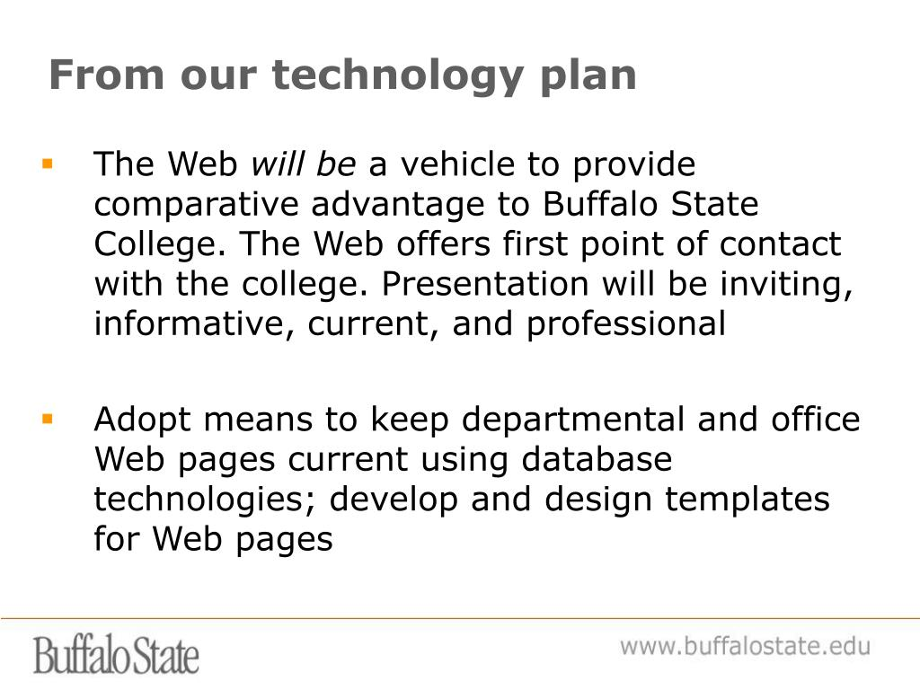 From our technology plan