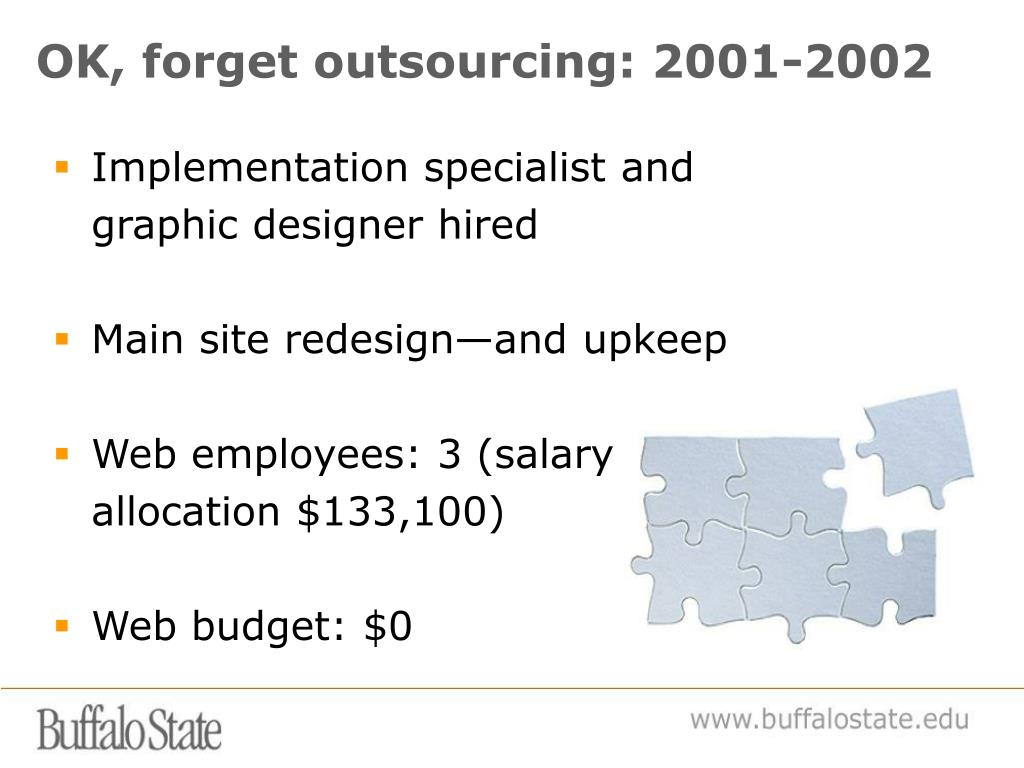 OK, forget outsourcing: 2001-2002
