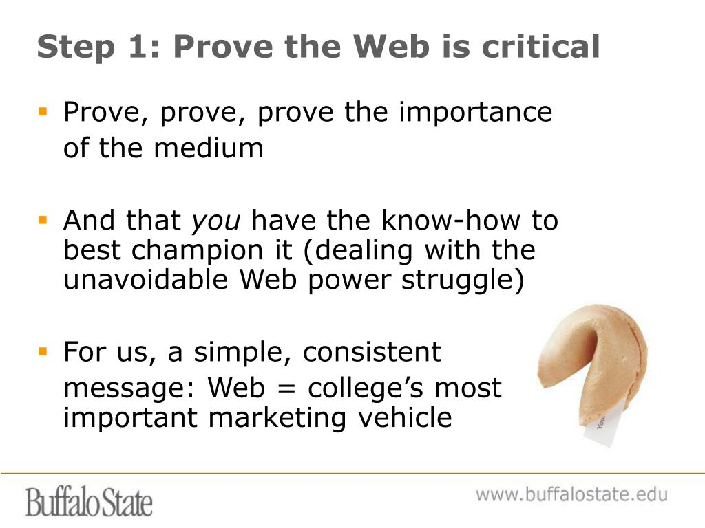 Step 1: Prove the Web is critical