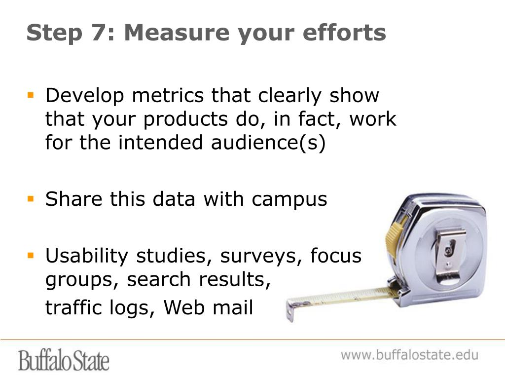 Step 7: Measure your efforts