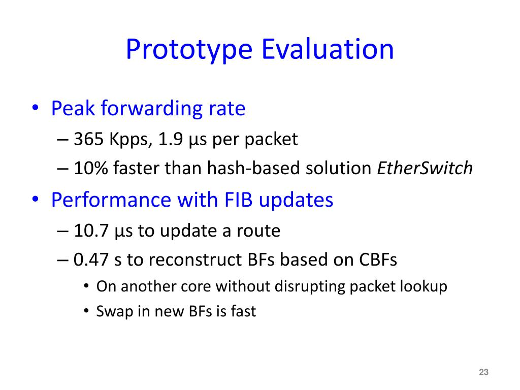 Prototype Evaluation