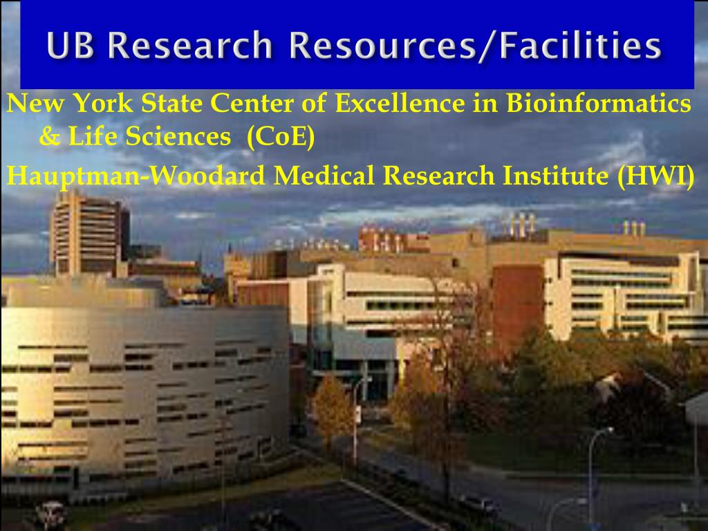 New York State Center of Excellence in Bioinformatics & Life Sciences (CoE)