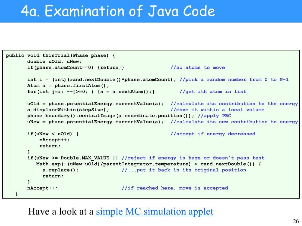 4a. Examination of Java Code